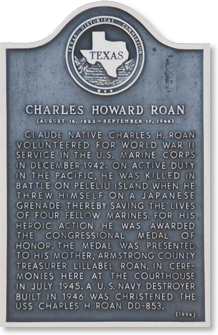 Plaque Honoring Charles H. Roan